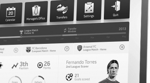 Gaaf experimenteel Interface Design voor FIFA13 - zwartwit