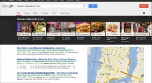 Google toont direct restaurants in een enorme carrousel