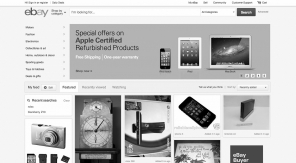 Waarom eBay haar redesign op Pinterest lijkt - zwartwit